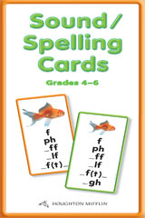 Journeys  Sound Spelling Cards Large Levels 4-6-9780547138657
