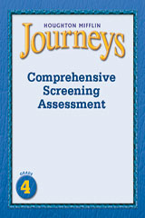 Journeys  Comprehensive Screening Assessment Grade 4-9780547153209