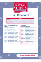 Houghton Mifflin Social Studies  Unit Resources Folders with Teacher's Annotated Edition Grade 5 US History-9780547248943