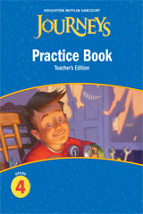 Journeys  Practice Book Teacher Annotated Edition Grade 4-9780547271941