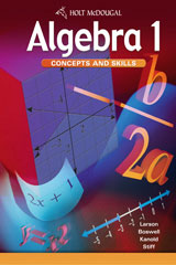 Algebra 1: Concepts and Skills  McDougal Littell Assessment System (MLAS) 1-year-9780547312095
