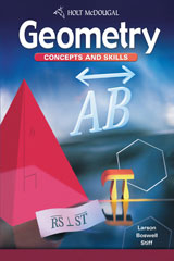 Geometry: Concepts and Skills  McDougal Littell Assessment System (MLAS) 1-year-9780547312101