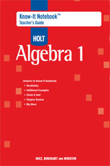 Holt McDougal Algebra 1  Know-It Notebook Teacher's Guide (No Transparencies)-9780547313801