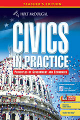 Civics in Practice: Principles of Government & Economics 1 Year Subscription Interactive Online Teacher's Edition Grades 7-12-9780547337005
