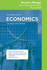 Economics: Concepts and Choices  Resource Manager-9780547338767