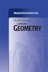 Holt McDougal Larson Geometry  Worked-Out Solutions Key-9780547353838