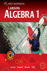 Holt McDougal Larson Algebra 1  Chapter Resource Package (Volumes 1 and 2)-9780547372532