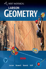 Holt McDougal Larson Geometry  Chapter Resource Package (Volumes 1 and 2)-9780547372549