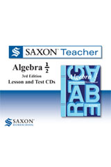 Saxon Algebra 1/2 Homeschool  Saxon Teacher CD ROM 3rd Edition-9780547443133