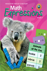 Math Expressions  Student Activity Book Consumable, Volume 1 Grade 1-9780547473727