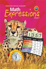 Math Expressions  Student Activity Book Hard Cover, Volume 1 Grade 5-9780547473802