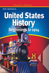 United States History  Teacher Edition Beginnings to 1914-9780547484815