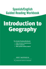 World Regions: Introduction to Geography  Spanish/English Guided Reading Workbook-9780547513225