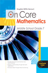 Houghton Mifflin Harcourt On Core Mathematics  Student Worktext Grade 7-9780547575254