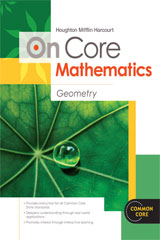 Houghton Mifflin Harcourt On Core Mathematics  Student Worktext Geometry-9780547575308