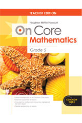 Houghton Mifflin Harcourt Mathematics On Core  Teacher's Edition without Blackline Master Grade 5-9780547591056