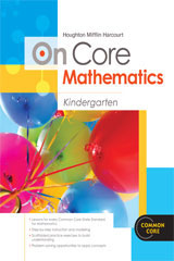 Houghton Mifflin Harcourt On Core Mathematics  Teacher Blackline Masters Grade K-9780547591933