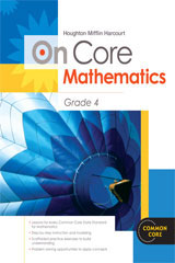 Houghton Mifflin Harcourt On Core Mathematics  Teacher Blackline Masters Grade 4-9780547591957