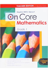 Houghton Mifflin Harcourt On Core Mathematics  Teacher Blackline Masters Grade 1-9780547591988