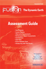 ScienceFusion  Assessment Guide Module E  Grades 6-8 Module E: The Dynamic Earth-9780547593173