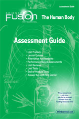 ScienceFusion  Assessment Guide Module C  Grades 6-8 Module C: The Human Body-9780547593227