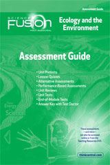 ScienceFusion  Assessment Guide Module D  Grades 6-8 Module D: Ecology and The Environment-9780547593241