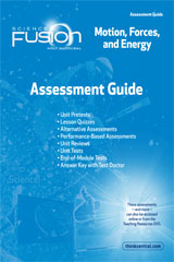 Assessment Guide Module I  Grades 6-8 Module I: Motion, Forces, and Energy-9780547593395