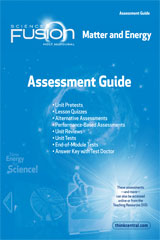 ScienceFusion  Assessment Guide Module H  Grades 6-8 Module H: Matter and Energy-9780547593432
