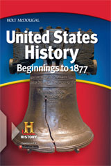 Holt McDougal United States History: Beginnings to 1877 © 2012 New York Student Edition-9780547601083