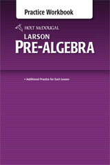 Holt McDougal Larson Pre-Algebra  Common Core Practice Workbook-9780547614601