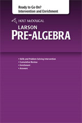 Holt McDougal Larson Pre-Algebra Common Core Ready to Go On? Intervention and Enrichment