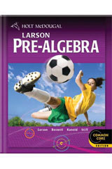 Holt McDougal Larson Pre-Algebra  Chapter Resources Volume 2 (Chapters 8-13)-9780547614724