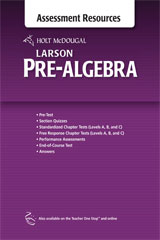 Holt McDougal Larson Pre-Algebra  Common Core Assessment Resources with Answers-9780547614748
