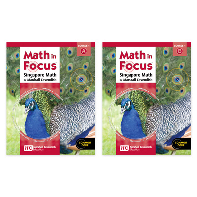 Math in Focus: Singapore Math  Student Edition Set Course 1-9780547618098