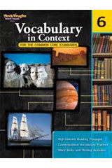 Vocabulary in Context for the Common Core Standards  Reproducible Grade 6-9780547625799