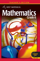 Holt McDougal Mathematics  Teacher's Edition Grade 6-9780547647210