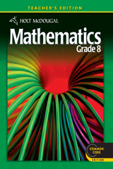 Holt McDougal Mathematics  Teacher's Edition Grade 8-9780547647272