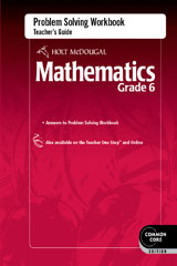 Holt McDougal Mathematics  Problem Solving Workbook Teacher's Guide Grade 6-9780547686721