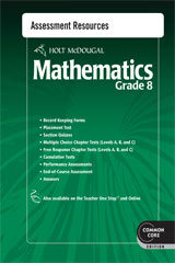 Holt McDougal Mathematics  Common Core Assessment Resources with Answers Grade 8-9780547686875