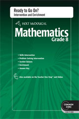 Holt McDougal Mathematics  Common Core Ready to Go On? Intervention & Enrichment w/ Answers Grade 8-9780547687001
