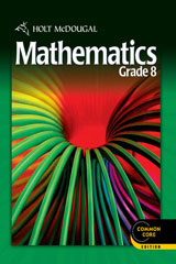 Holt McDougal Mathematics 1 Year Common Core Online Interactive Edition Grade 8-9780547687582