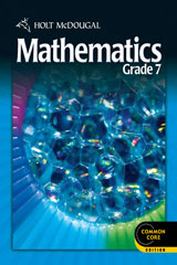 Holt McDougal Mathematics  Resource Book with Answers Grade  7 Volume 1-9780547687872