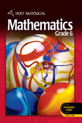 Holt McDougal Mathematics  Common Core Chapter Resource Books Set Grade 6-9780547688169