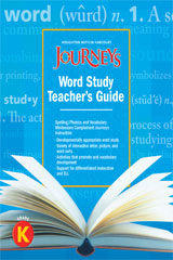 Journeys  Guided Word Study Grade K-9780547691084