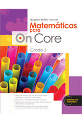Houghton Mifflin Harcourt Matemáticas para On Core  Student Edition Grade 3-9780547698489