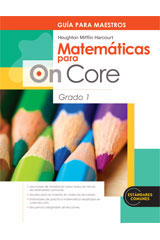 Houghton Mifflin Harcourt Matemáticas para On Core  Teacher's Edition Grade 1-9780547698533