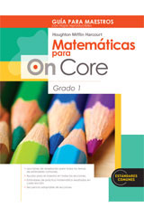 Houghton Mifflin Harcourt Matemáticas para On Core  Teacher's Edition with Blackline Masters Grade 1-9780547698618