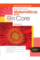 Houghton Mifflin Harcourt Matemáticas para On Core  Assessment Book Grade 6-9780547698731