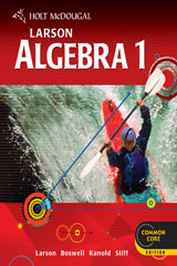 Holt McDougal Larson Algebra 1  Chapter Resource Book w/Answers, Volumes 1 & 2-9780547710105