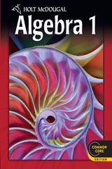 Holt McDougal Algebra 1  Chapter Resource Book with Answers Volumes 1 & 2-9780547710150